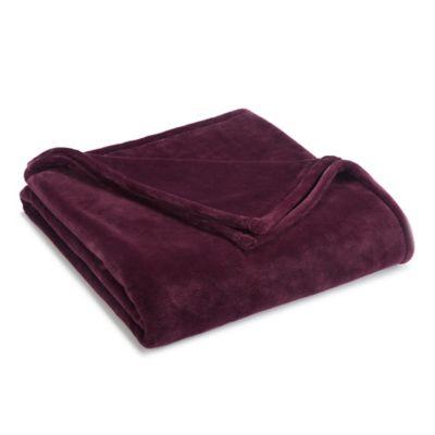 Full/Queen Sheared Mink Blanket in Fig