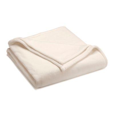Full/Queen Sheared Mink Blanket in Ivory