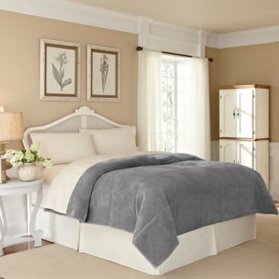 Vellux® Plush Lux Twin Blanket in Grey