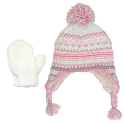 Rising Star™ Toddler 2-Piece Fair Isle Knit Trapper Hat and Mitten Set