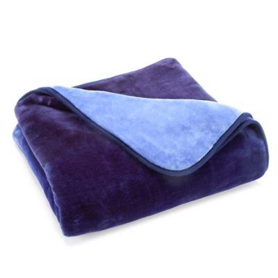 Vellux® Mink Ombre Throw Blanket in Blue