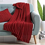 Abode Dublin Knit Throw in Red