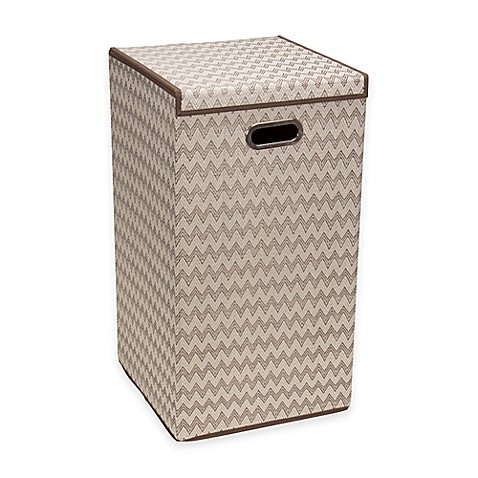 Buy household essentials collapsible laundry hamper in brown from bed bath beyond - Collapsible clothes hamper ...