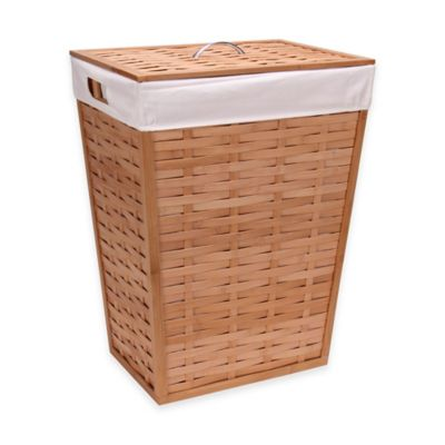 Household Essentials® Basket-Woven Bamboo Hamper