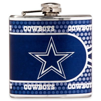 NFL Dallas Cowboys Stainless Steel Metallic Hip Flask