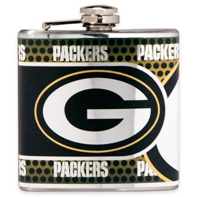 NFL Green Bay Packers Stainless Steel Metallic Hip Flask