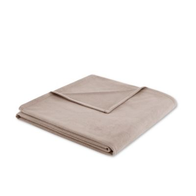 3M Scotchgard Peak Performance Microfleece King Blanket in Mink