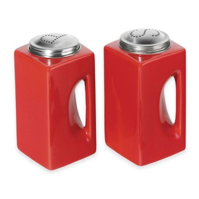 Oggi™ EZ Grip Salt & Pepper Shaker Set in Red