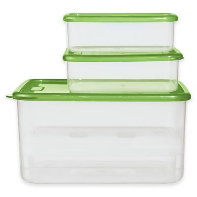Oggi™ Chill-to-Go 7-Piece Food Container Set in Green