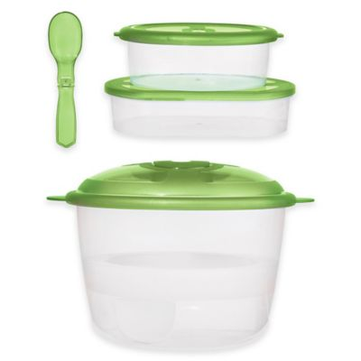 Oggi™ Chill-to-Go 8-Piece Food Container Set in Green