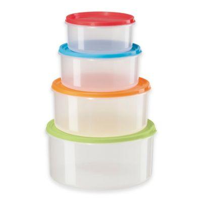 Oggi™ 4-Piece Large Round Storage Set with Lids