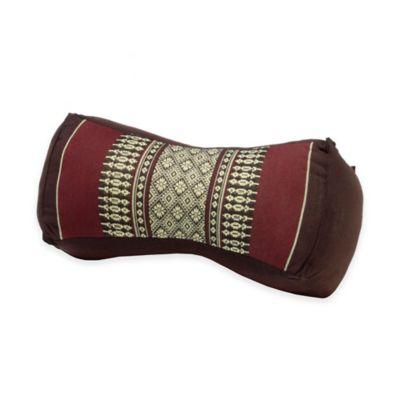 My Zen Home™ Bone Yoga Bolster Pillow in Brown/Burgundy