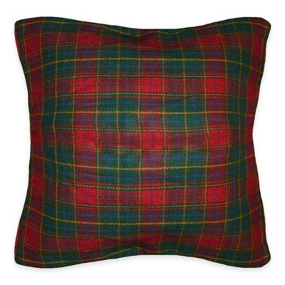 Borland Square Throw Pillow in Red