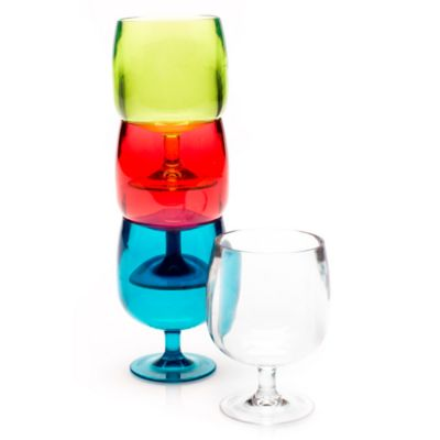 Zak! Designs® Stacky Cordial Glass in Red (Set of 4)