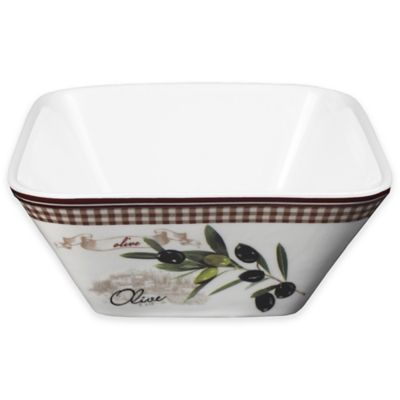 Lorren Home Trends Olive Branch Square Bowl