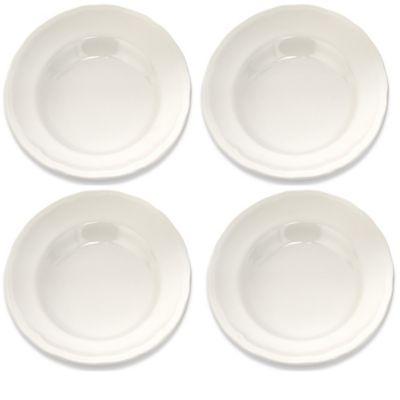 Lorren Home Trends White Rim Soup Bowls (Set of 4)
