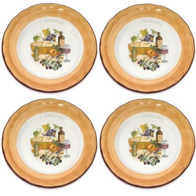 Lorren Home Trends Mona Lisa Dinner Plates (Set of 4)
