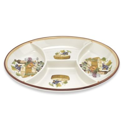 Lorren Home Trends Mona Lisa 4-Section Oval Tray