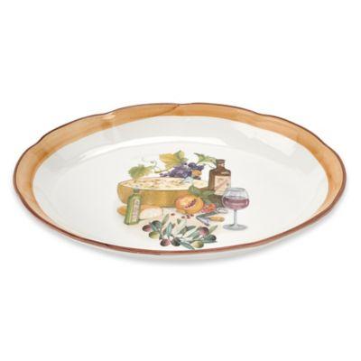 Lorren Home Trends Mona Lisa 18-Inch Oval Platter