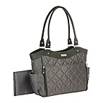 carter's® Drop Front Quilted Diaper Bag in Grey