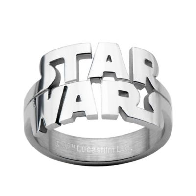 Star Wars™ Stainless Steel Cut-Out Logo Size 7 Men's Ring