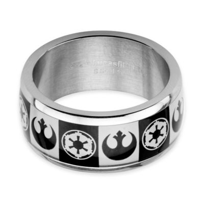 Star Wars™ Imperial/Rebel Symbol Stainless Steel Size 9 Men's Ring