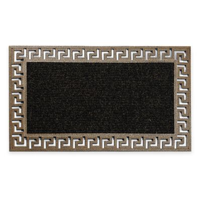 Bronze Greek Key 18-Inch x 30-Inch Door Mat