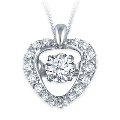 w18 White Diamond Pendant