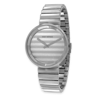 Issey Miyake Unisex 40mm PLEASE Watch by Jasper Morrison in Stainless Steel with Silver Dial