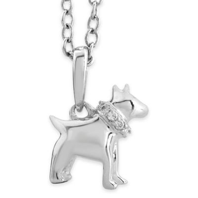 ASPCA® Tender Voices Sterling Silver 1/10 cttw Diamond 18-Inch Chain Scottie Dog Pendant