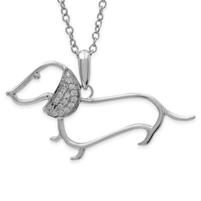 ASPCA® Tender Voices Sterling Silver .07 cttw Diamond 18-Inch Chain Dotson Pendant Necklace