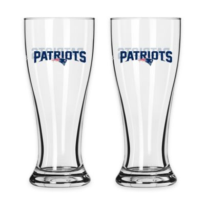 NFL New England Patriots Mini Pilsner Glass (Set of 2)