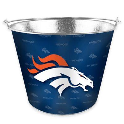 NFL Denver Broncos Metal Ice Bucket