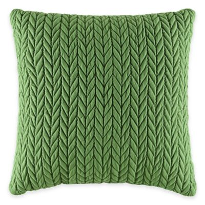 J by J. Queen New York Camden Square Throw Pillow in Kiwi