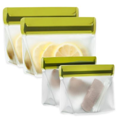 BlueAvocado® (re)zip™ 2-Piece 1/2-Cup Reusable Snack Bags in Moss