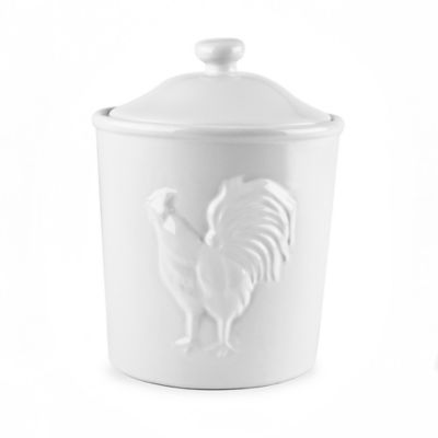 32 oz. Ceramic Rooster Canister in White
