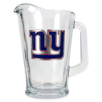 NFL New York Giants 1/2 Gallon Glass Pitcher