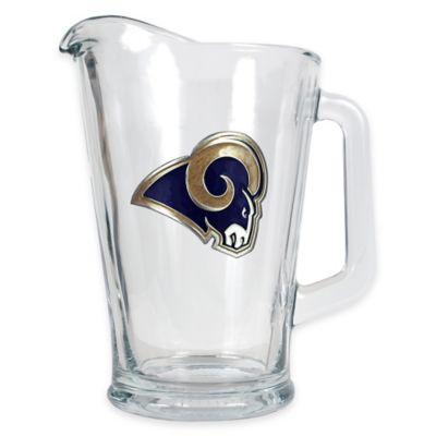 NFL St. Louis Rams 1/2 Gallon Glass Pitcher