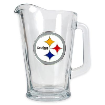 NFL Pittsburgh Steelers 1/2 Gallon Glass Pitcher