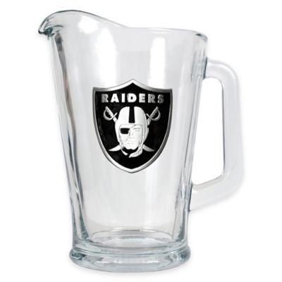 NFL Oakland Raiders 1/2 Gallon Glass Pitcher