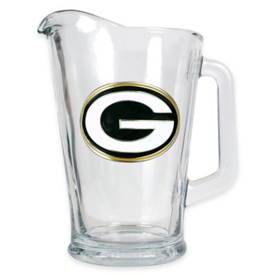 NFL Green Bay Packers 1/2 Gallon Glass Pitcher