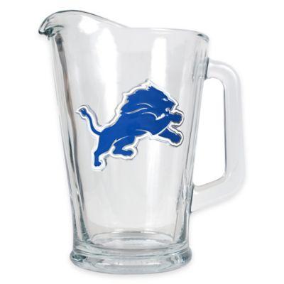 NFL Detroit Lions 1/2 Gallon Glass Pitcher