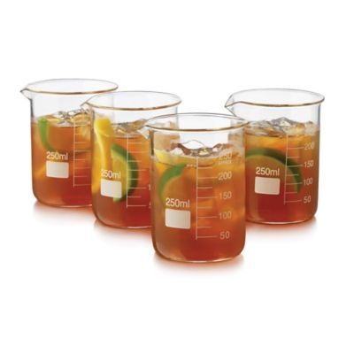 Libbey® Glass 4-Piece Chemistry Bar Beaker Cocktail Set