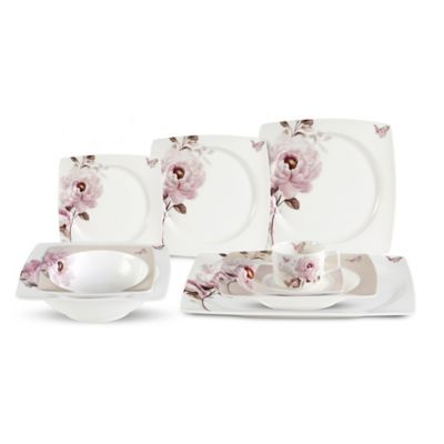 Lorren Home Trends Sophie 30-Piece Dinnerware Set
