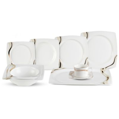 Lorren Home Trends Dora 30-Piece Dinnerware Set