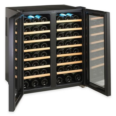 Wine Enthusiast® Classic 48-Bottle Dual-Zone Wine Cooler in Black
