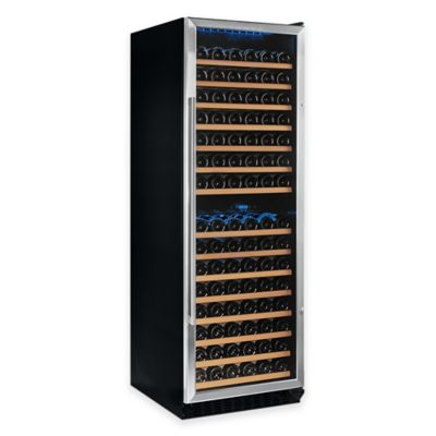 Wine Enthusiast Classic 166-Bottle Dual-Zone Wine Cellar in Stainless Steel