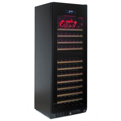Wine Enthusiast® N'FINITY PRO HDX 166-Bottle Dual-Zone Wine Cellar in Black