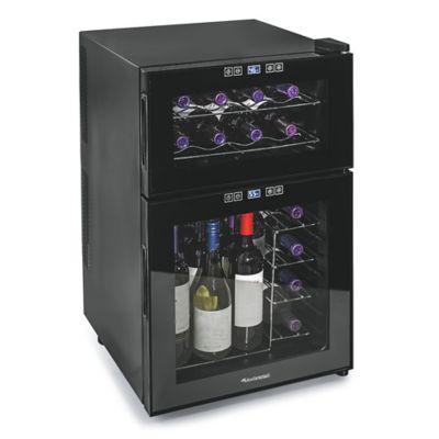 Wine Enthusiast Silent 24-Bottle Dual-Zone Wine Refrigerator in Black