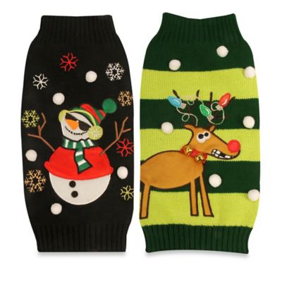 Pawslife™ Snowman Medium Ugly Holiday Pet Sweater